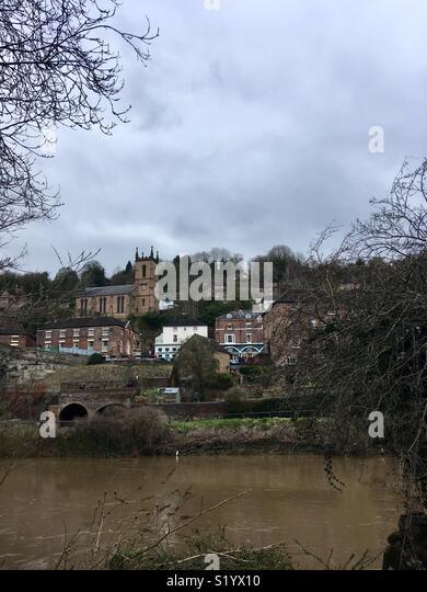 Ironbridge, Shropshire, England, World Heritage Site, birthplace of the Industrial Revolution - Stock Image
