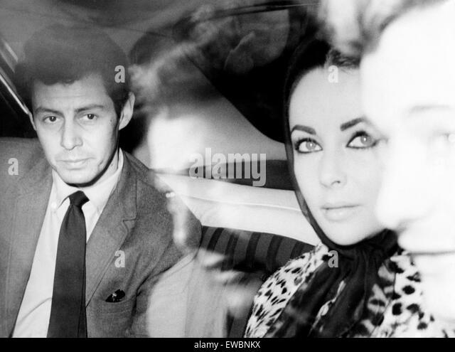 eddie fischer,elizabeth taylor,1959 - Stock-Bilder