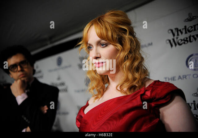 Christina Hendricks and Geoffrey Arend (l) attend The Art of Elysium 2016 HEAVEN Gala at 3LABS on January 9th, 2016 - Stock Image