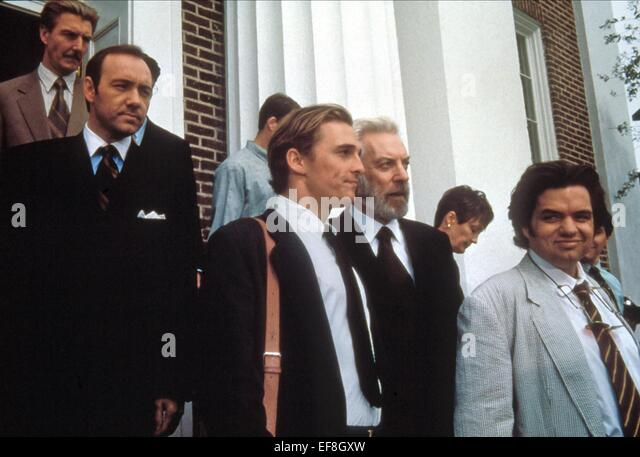 KEVIN SPACEY MATTHEW MCCONAUGHEY DONALD SUTHERLAND & OLIVER PLATT A TIME TO KILL (1996) - Stock Image