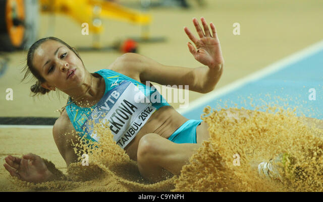 ISTANBUL, TURKEY: Friday 9 March 2012, Irina Litvinenko Ektova (KAZ) of Kazakstan in the women's triple jump - Stock Image