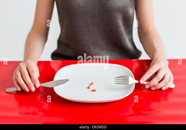 Concept of anorexiant. - Stock-Bilder