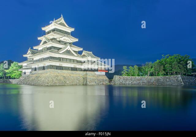 Matsumoto castle in Matsumoto city,Nagono, Japan - Stock Image