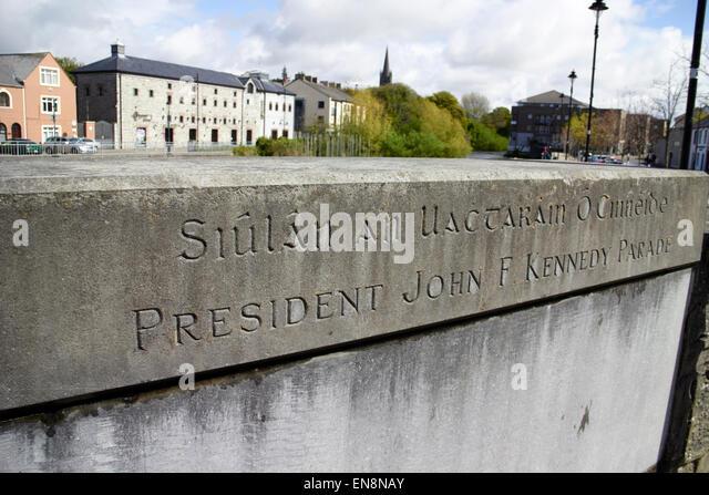 president john f kennedy parade sligo republic of ireland - Stock Image
