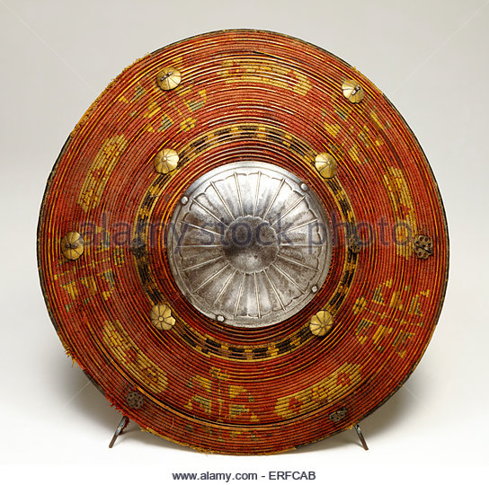 Turkish Spiral Cane shield, 17th century. Courtesy The Tower of London. - Stock Image