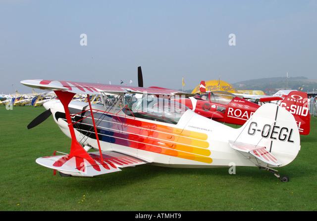 Christen Eagle II on static display at Shoreham airshow - Stock-Bilder