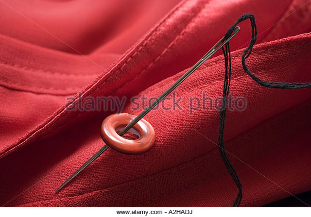 Handworks Stitching Button - Stock Image