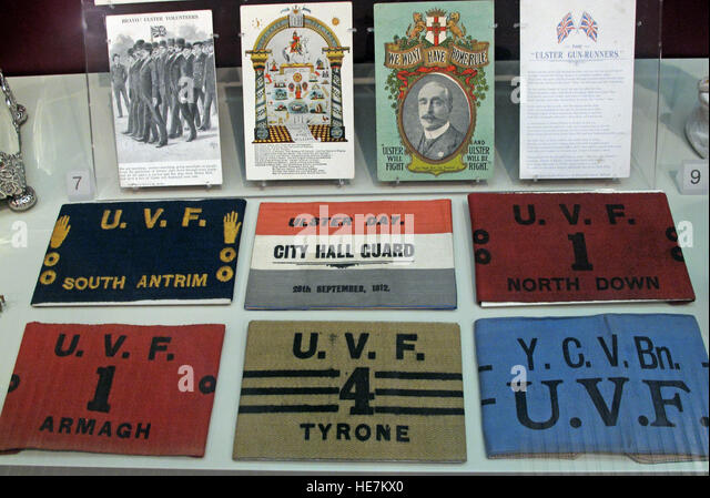 Ulster Day - 28th Sep 1912 - City Hall Guard - Home Rule Crisis UVF armbands - Stock Image