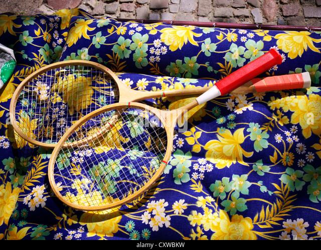 Badminton racket - Stock Image