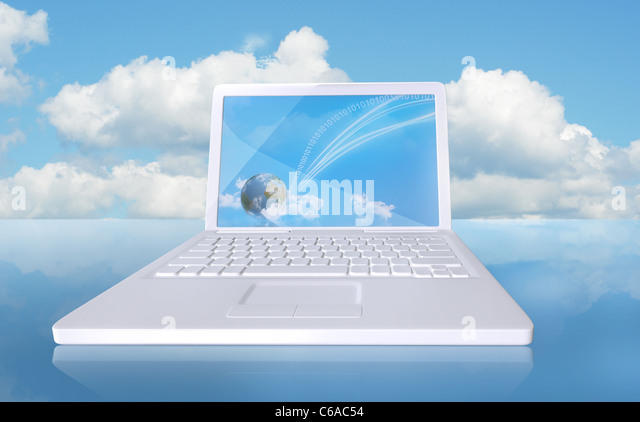 Digital touchdown with cloud computing - Stock Image