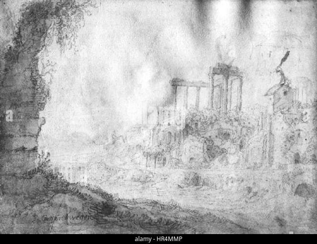 Pieter Anthonisz. van Groenewegen - Landscape - WGA10697 - Stock Image