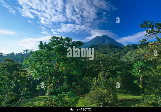 Volcano Arenal Zona Norte Costa Rica - Stock-Bilder