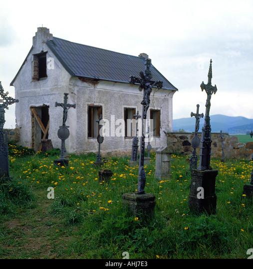 cemetery Czech Republic, Europe. Photo by Willy Matheisl - Stock Image