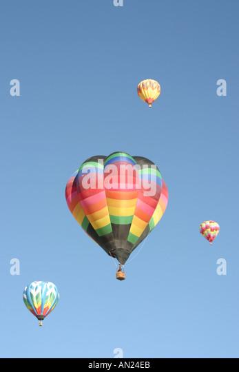Albuquerque New Mexico hot air balloons - Stock Image