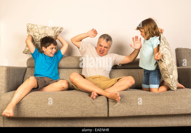 Pillow Fight And Kids Stock Photos & Pillow Fight And Kids ...