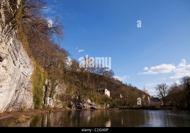 Water Cum Jolly Dale in the Peak District Derbyshire England - Stock Image