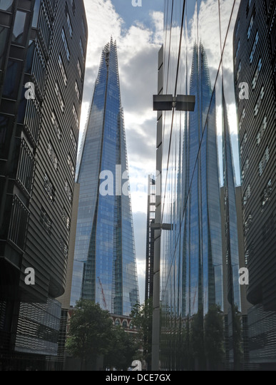 The Shard reflected in 1 More London 2013 - Stock Image