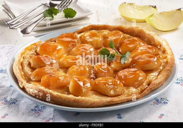 Reversed Apple Pie - Stock Image