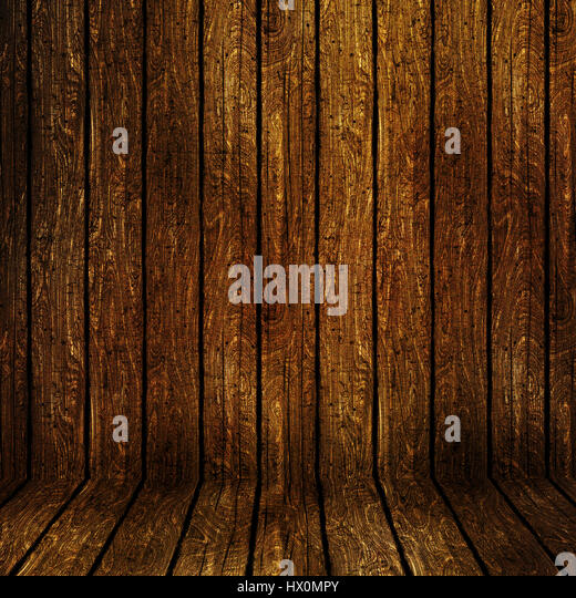 Grunge style wooden background with scratches and stains - Stock Image