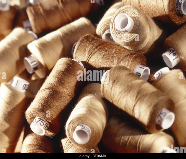 cotton reels - Stock Image