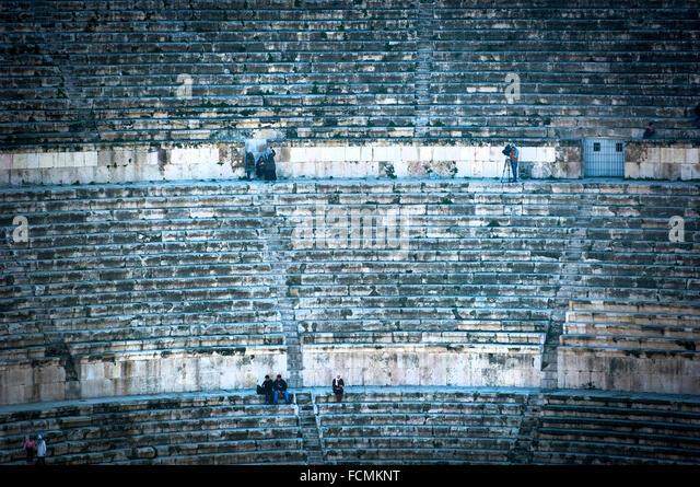 Amman's Roman Theatre , Amman, Jordan. - Stock Image