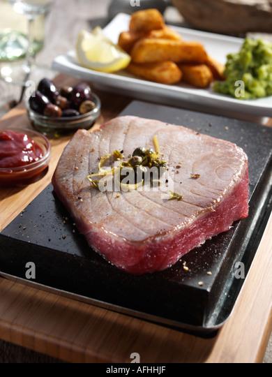 Tuna steak - Stock Image