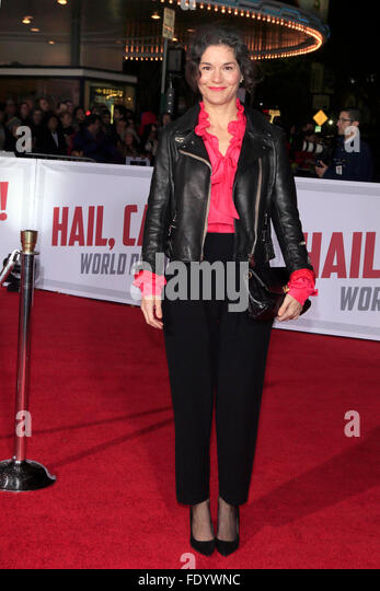 Westwood, California. 1st Feb, 2016. Heather Goldenhersh attends the 'Hail, Caesar!' premiere at Regency - Stock Image
