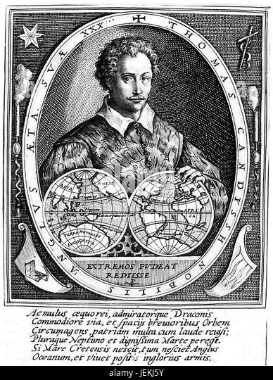 THOMAS CAVENDISH (1560-1592)  English naval captain and explorer - Stock-Bilder
