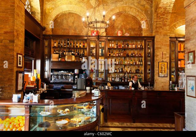 Cagliari , Cafe Svizzero , Italy Sardinia - Stock-Bilder