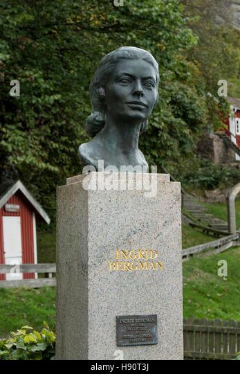 Ingrid Bergman memorial in Fjällbacka, Bohuslän, Sweden, Scandinavia - Stock-Bilder
