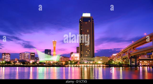 Port of Kobe Tower in Kobe, Japan. - Stock Image