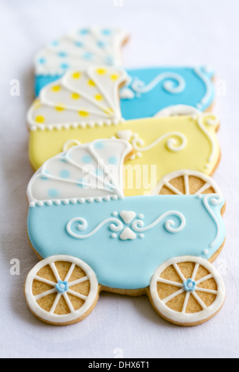 Cookies decorated for a baby shower - Stock Image