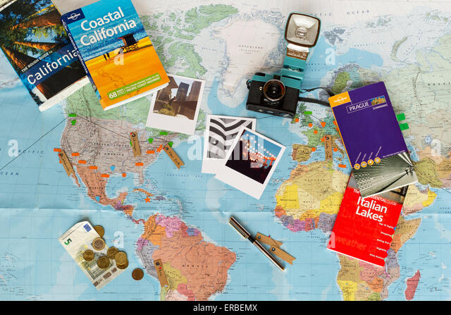 Vintage Camera And Map Photos and Vintage Camera And Map – Map For Travel Planning