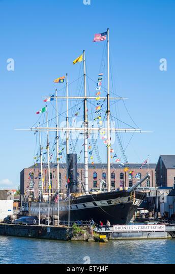 Brunel's SS Great Britain Bristol Docks Bristol Avon England UK GB EU Europe - Stock-Bilder