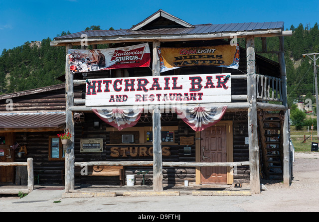 Wild western bar, Black Hills, South Dakota, USA - Stock-Bilder