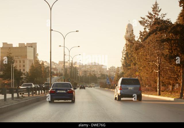 Streets in early morning in Amman, Jordan - Stock Image