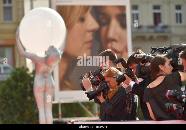 Atmosphere during the 51st Karlovy Vary International Film Festival in Karlovy Vary, Czech Republic, July 9, 2016. - Stock-Bilder