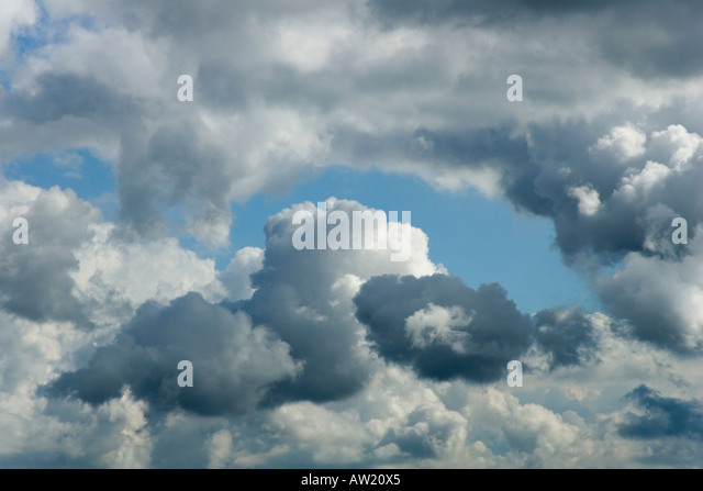 Minatory clouds - Stock Image