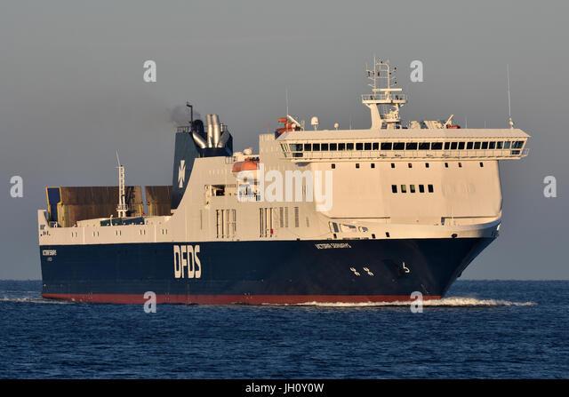 Victoria Seaways inbound for Kiel from Klaipeda - Stock Image