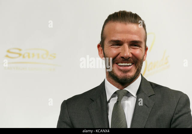 Palace Hotel, Tokyo, Japan. 4th Oct 2017. English former professional soccer star David Beckham attends a news conference - Stock Image