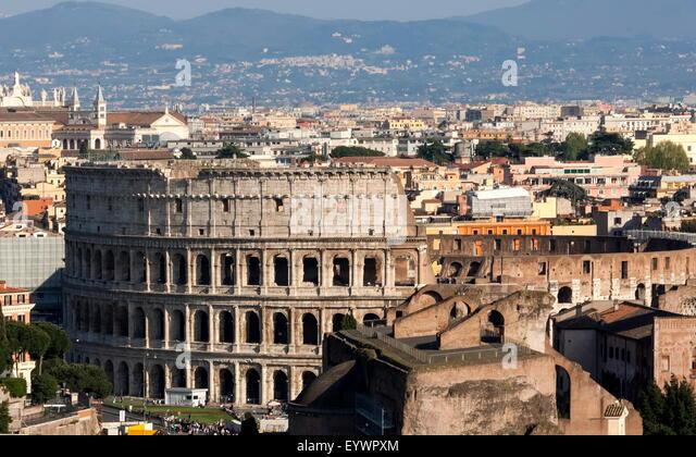 The Colloseum, Ancient Rome, UNESCO World Heritage Site, Rome, Lazio, Italy, Europe - Stock Image
