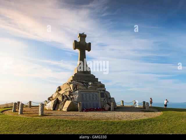 The Newquay War Memorial. - Stock Image