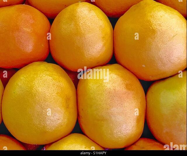 Gorgeous Gigantic Yellow Grapefruit at the Market - Stock Image