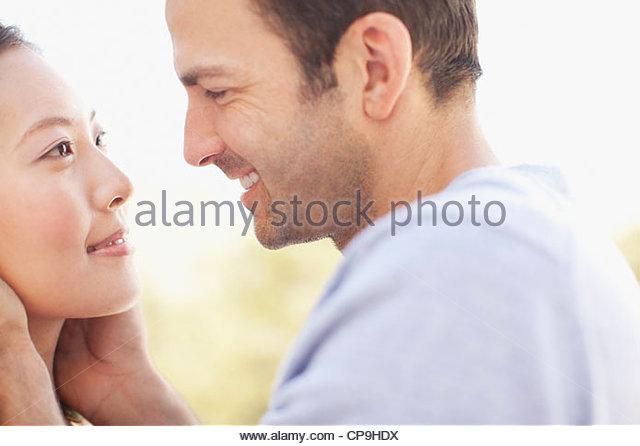 25-29 years,30-34 years,affection,anticipation,asian ethnicity,attraction,bonding,boyfriend,california,casual - Stock-Bilder
