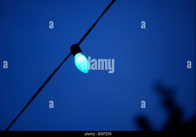 Blue lights - Stock Image