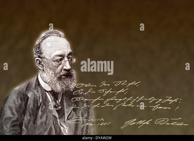 Gottfried Keller, 1819 - 1890, a Swiss poet and writer of German literature - Stock Image