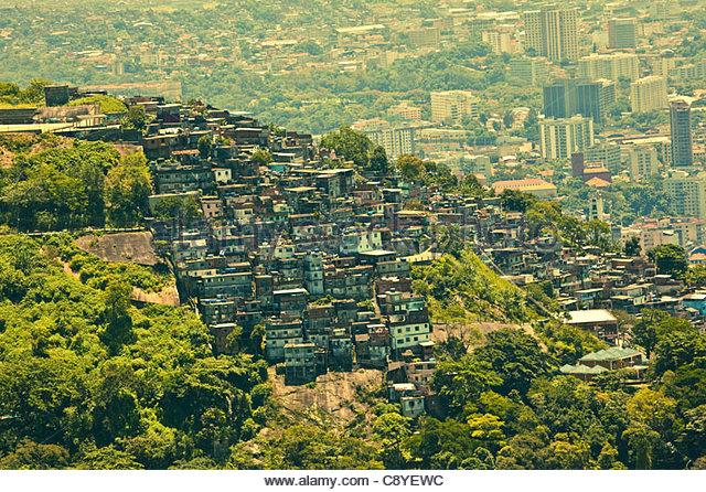 Favela in Rio De Janeiro Brazil - Stock Image