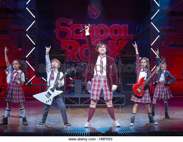School of Rock. A musical based on the 2003 movie featuring music from the movie and new music written by Andrew - Stock Image