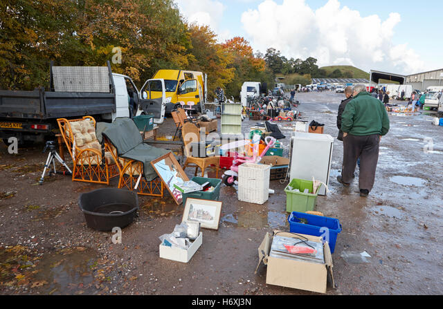 car boot sale at a rural location in england uk - Stock Image