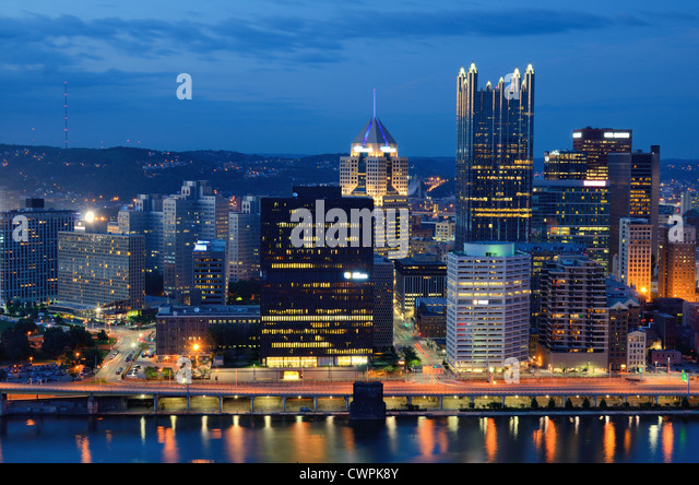 Skyscrapers in downtown PIttsburgh, Pennsylvania, USA. - Stock Image
